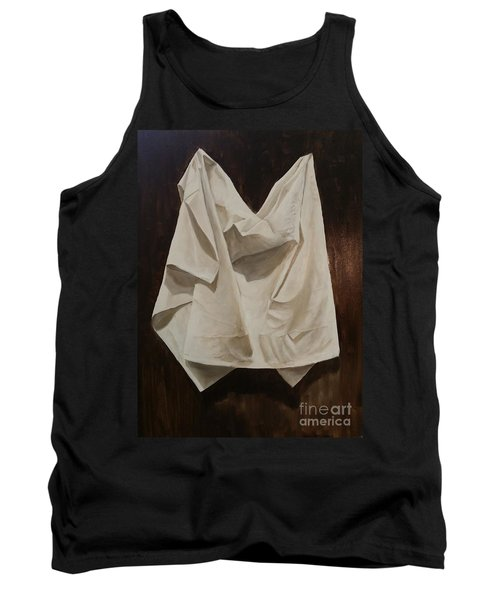 Tank Top featuring the painting Painting Alla Rembrandt - Minimalist Still Life Study by Rosario Piazza