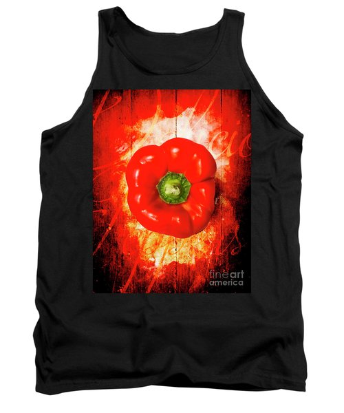 Kitchen Red Pepper Art Tank Top