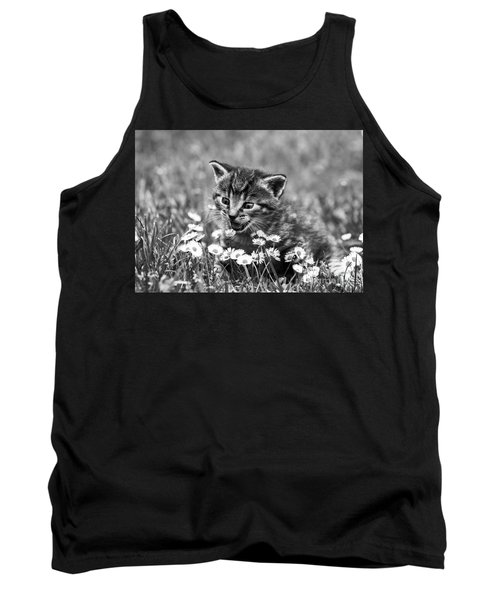 Kitten With Daisy's Tank Top