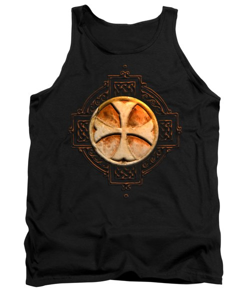 Knights Templar Symbol Re-imagined By Pierre Blanchard Tank Top by Pierre Blanchard