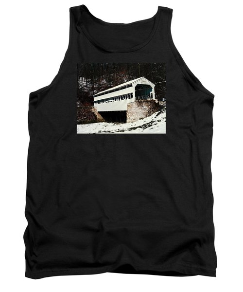 Knox Covered Bridge Historical Place Tank Top by Sally Weigand
