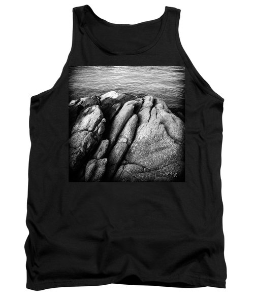 Tank Top featuring the photograph Ko Samet Rocks In Black by Joseph Westrupp