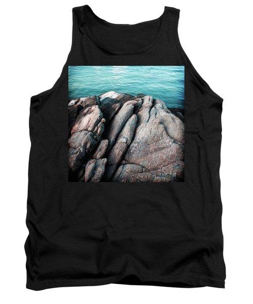 Tank Top featuring the photograph Ko Samet Rocks by Joseph Westrupp
