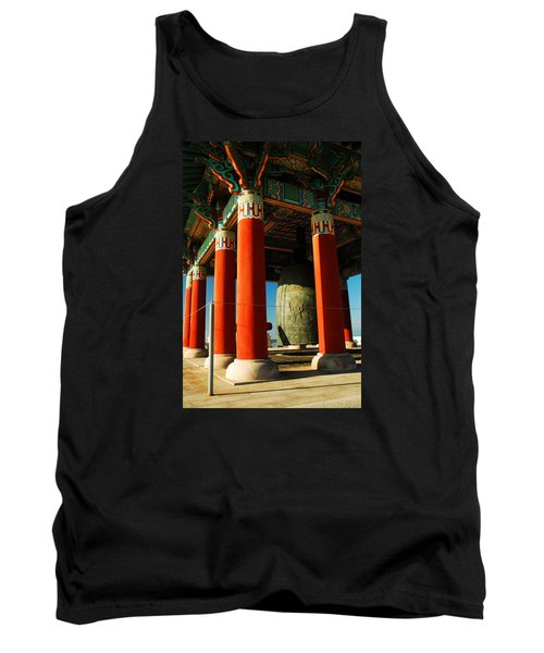 Tank Top featuring the photograph Korean Peace Bell San Pedro by James Kirkikis