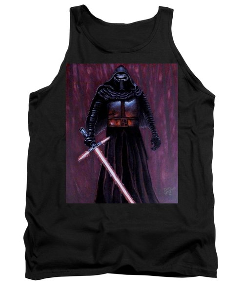 Tank Top featuring the painting Kylo In Red by Dan Wagner