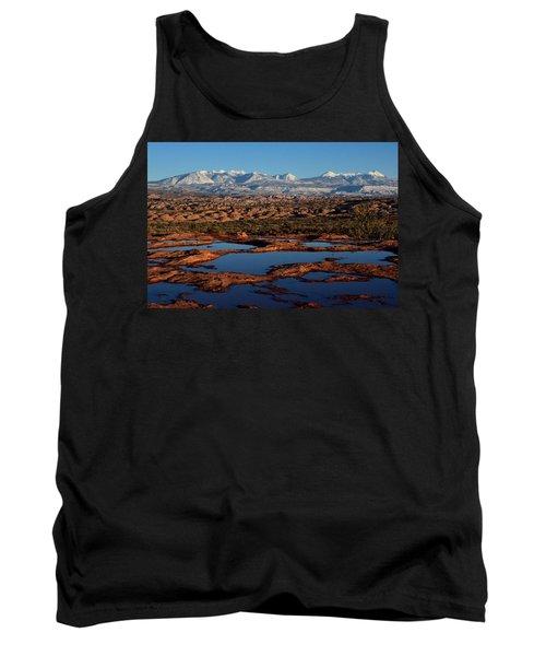 La Sal Mountains And Ephemeral Pools Tank Top