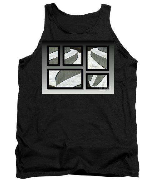 Tank Top featuring the photograph La Stairs Collage 01a by Ausra Huntington nee Paulauskaite