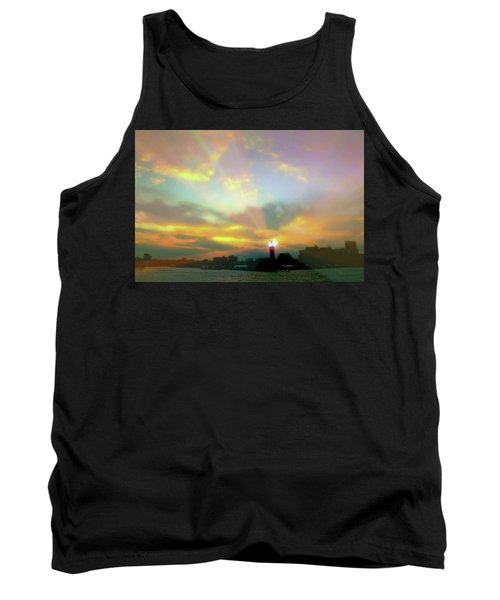 Tank Top featuring the photograph Lackawanna Transit Sunset by Diana Angstadt