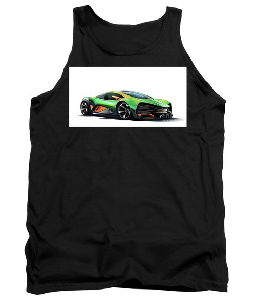 Tank Top featuring the drawing Milan Red by Brian Gibbs