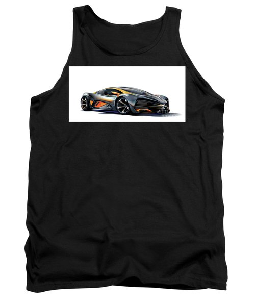 Tank Top featuring the drawing Milan Red Vector Art by Brian Gibbs