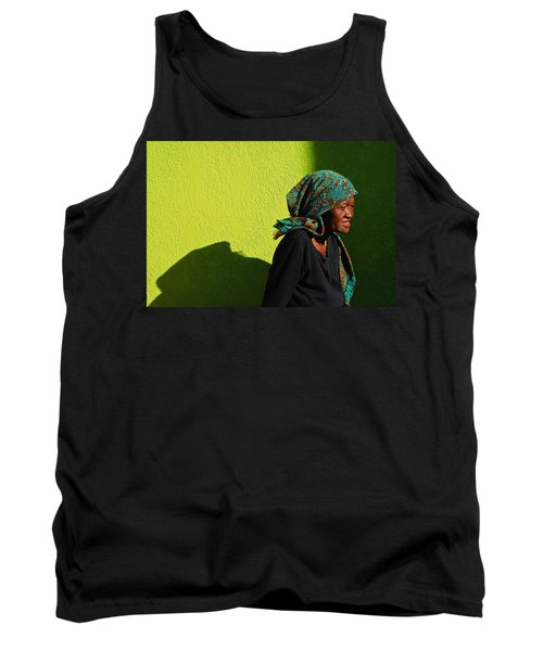 Tank Top featuring the photograph Lady In Green by Skip Hunt