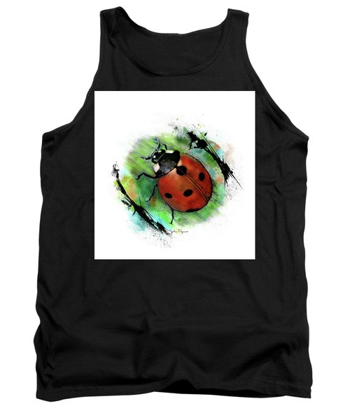 Ladybug Drawing Tank Top