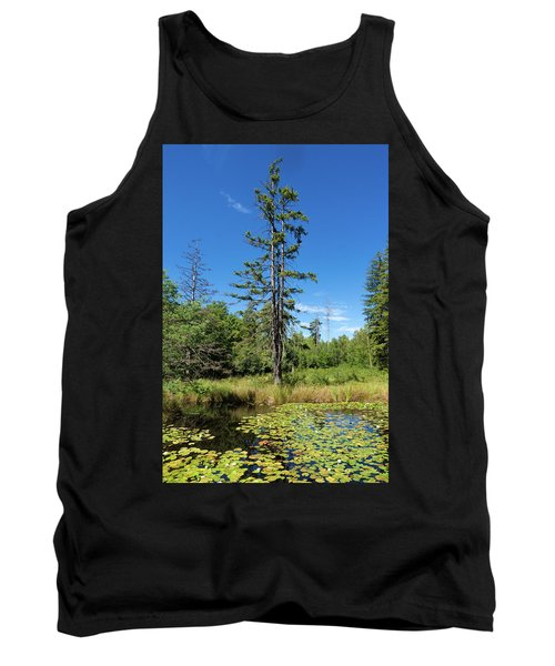 Tank Top featuring the photograph Lake Birkensee Nature Park Schoenbuch Germany by Matthias Hauser