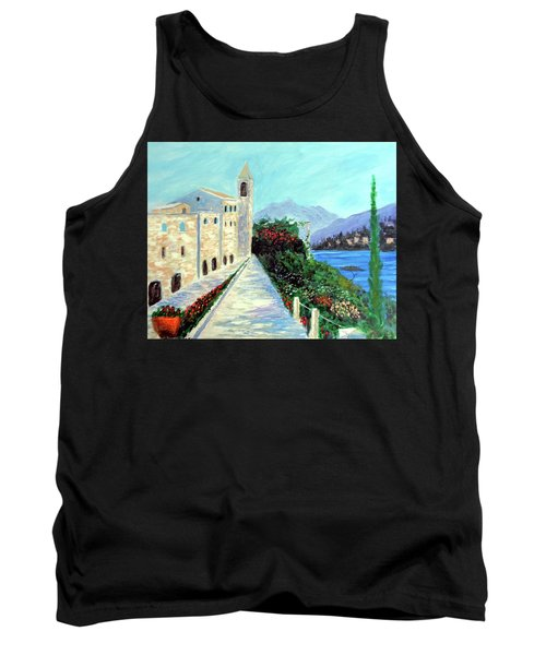 Lake Como Colors  Tank Top by Larry Cirigliano
