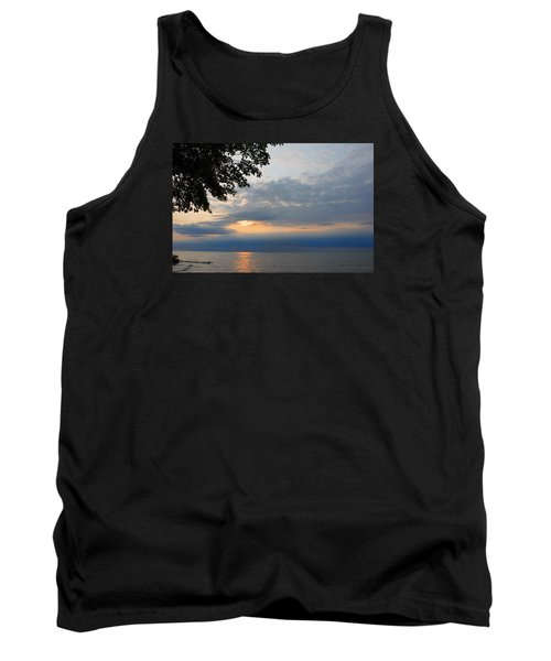 Lake Erie Sunset Tank Top by Lena Wilhite