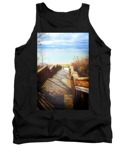Tank Top featuring the photograph Lake Michigan In The North by Michelle Calkins
