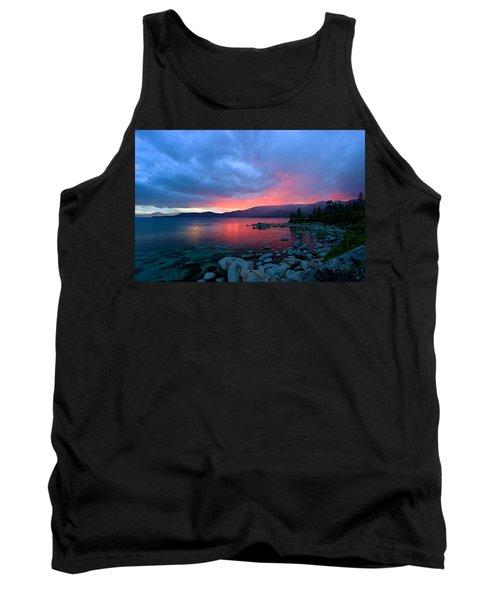 Lake Tahoe Sunset Tank Top