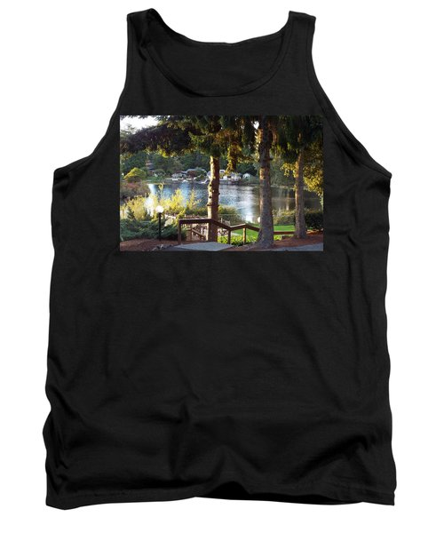 Tank Top featuring the photograph  Beverly Lake View In Fall by Judyann Matthews