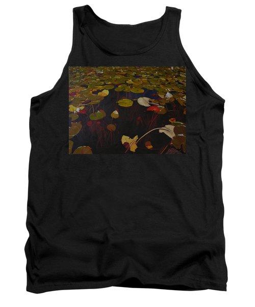 Tank Top featuring the painting Lake Washington Lilypad 7 by Thu Nguyen