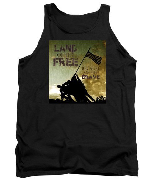 Tank Top featuring the digital art Land Of The Free by Dawn Romine