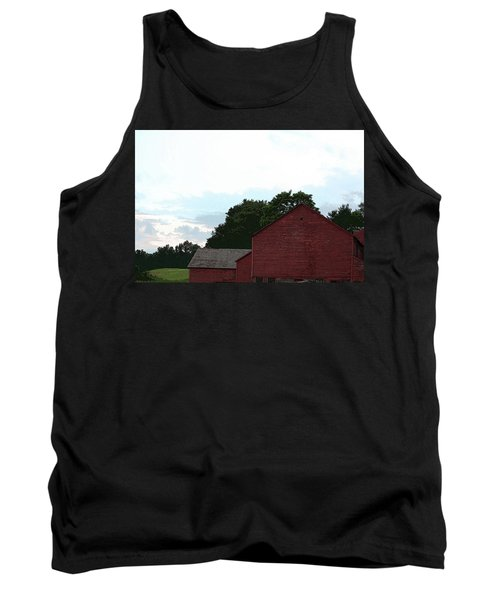 Large Red Barn Tank Top