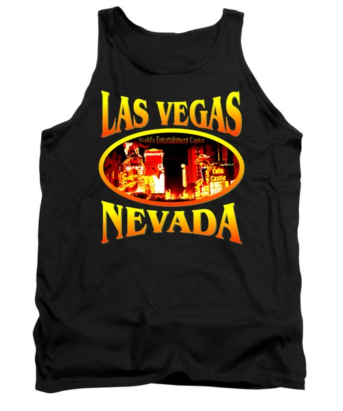 Las Vegas Nevada - Tshirt Design Tank Top by Art America Gallery Peter Potter