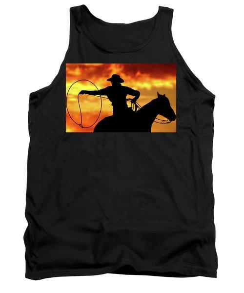 Lasso Sunset Cowboy Tank Top