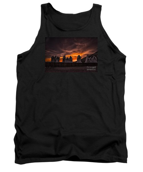 Last Supper At Sunset Tank Top by Janis Knight