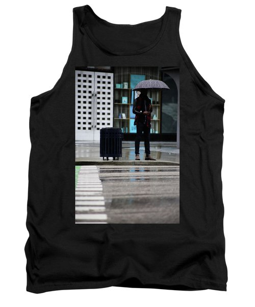 Last Text  Tank Top by Empty Wall