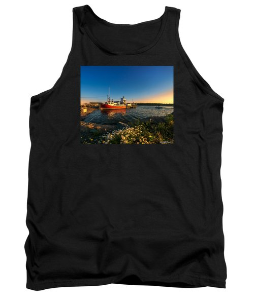 Late In The Day At Fisherman's Cove  Tank Top by Ken Morris