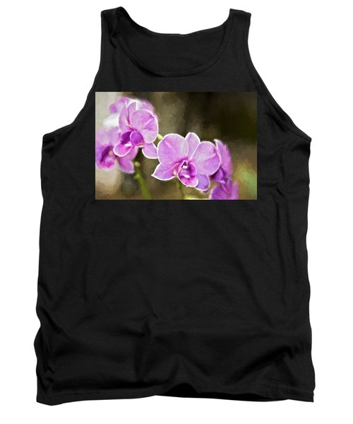 Lavendar Orchids Tank Top by Lana Trussell