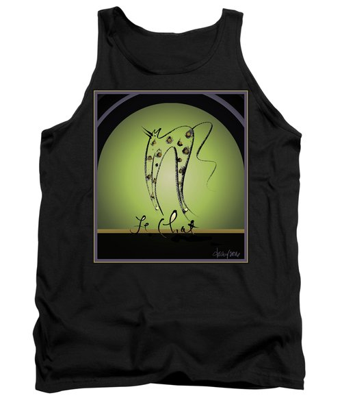 Le Chat - Green And Gold Tank Top