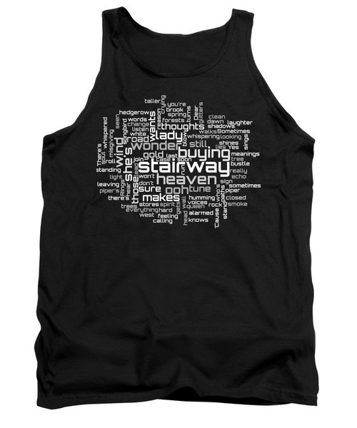 Tank Top featuring the digital art Led Zeppelin - Stairway To Heaven Lyrical Cloud by Susan Maxwell Schmidt
