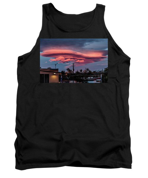 Tank Top featuring the photograph Lenticular Cloud Las Vegas by Michael Rogers