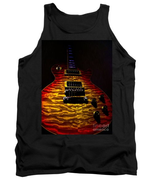 Guitar Custom Quilt Top Spotlight Series Tank Top