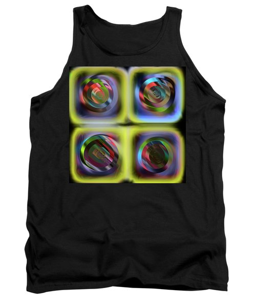 Tank Top featuring the digital art  Les Tensions Internes by Danica Radman