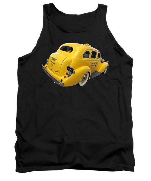 Let's Ride - Studebaker Yellow Cab Tank Top by Gill Billington