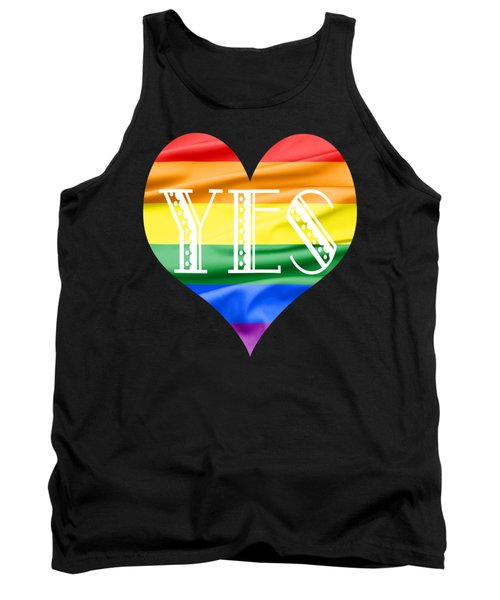 Tank Top featuring the photograph Lgbt Heart With A Big Fat Yes by Semmick Photo