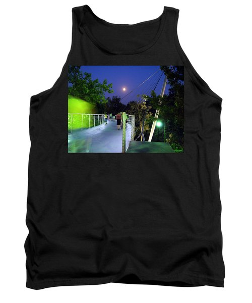 Liberty Bridge At Night Greenville South Carolina Tank Top