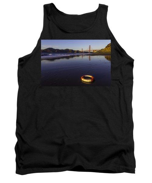 Life Ring And Golden Gate Bridge Tank Top