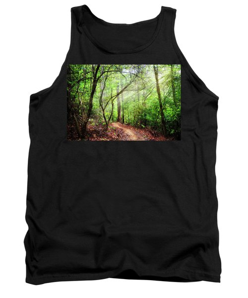 Light Rays On The Trail Tank Top