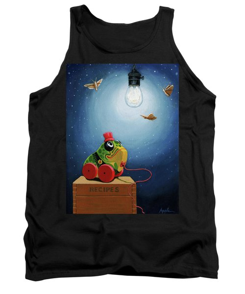 Tank Top featuring the painting Light Snacks Original Whimsical Still Life by Linda Apple