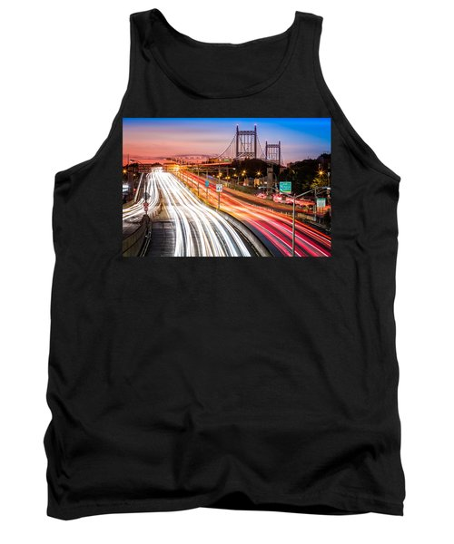 Light Trails On I-278 Near Triboro Bridge Tank Top