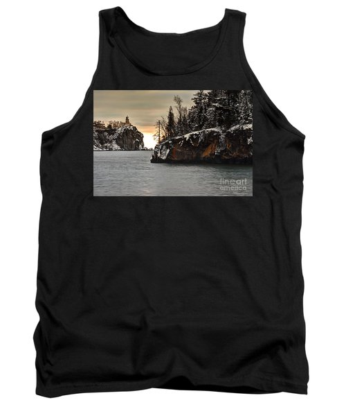 Lighthouse And Island At Dawn Tank Top