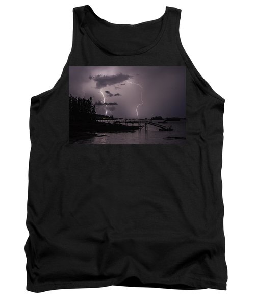 Lightning Over Boothbay Harbor Tank Top