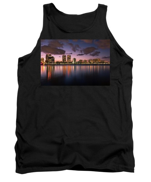Lights At Night In West Palm Beach Tank Top