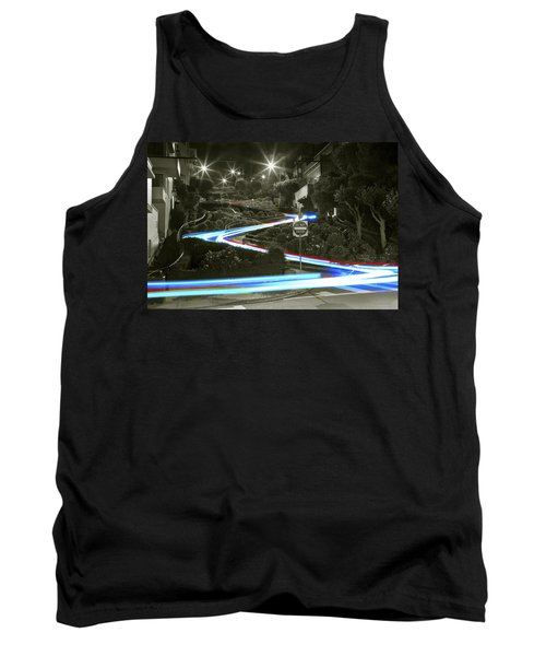 Lights On Lombard Black And White Tank Top