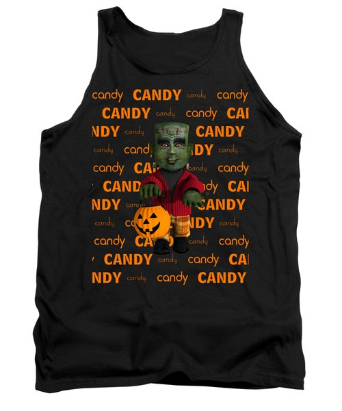 Tank Top featuring the digital art Lil Monster Halloween by Methune Hively