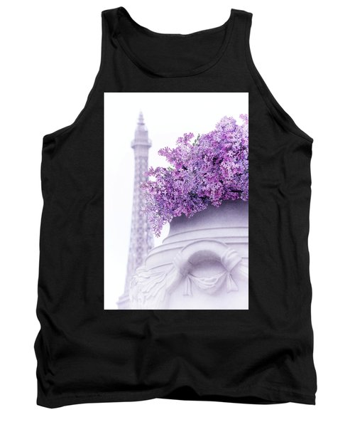 Lilac Tales Tank Top by Iryna Goodall