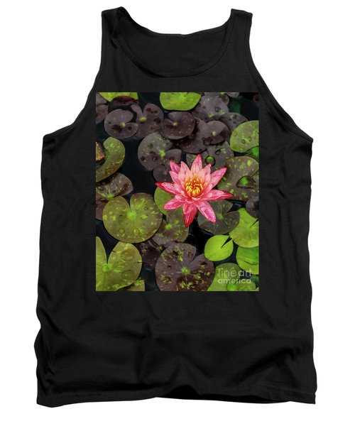 Lilly Pad, Red Lilly Tank Top